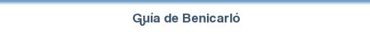 Guía de Benicarló