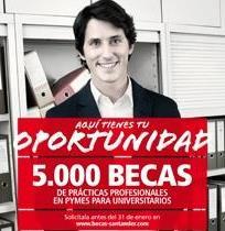Comienza tu carrera profesional con las 'Becas Santander de Prácticas en PYMEs'